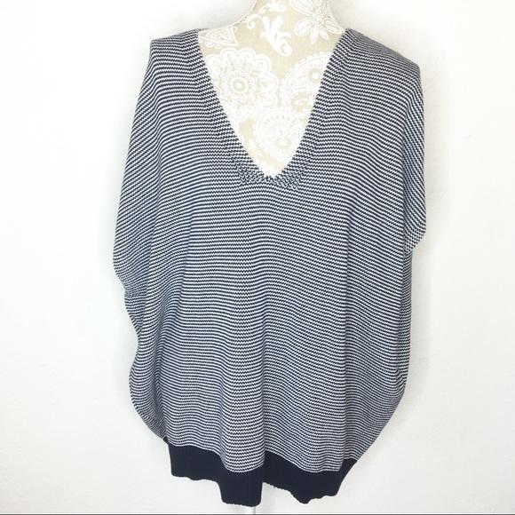 f0bba89d0a3e9 GAP Sweaters - 🕶Gap sleeveless poncho sweater Navy white stripe